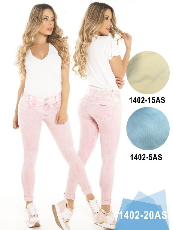 Jeans Levantacola Colombiano Asi Sea  - Ref. 124 -1402-20 Rosado AS