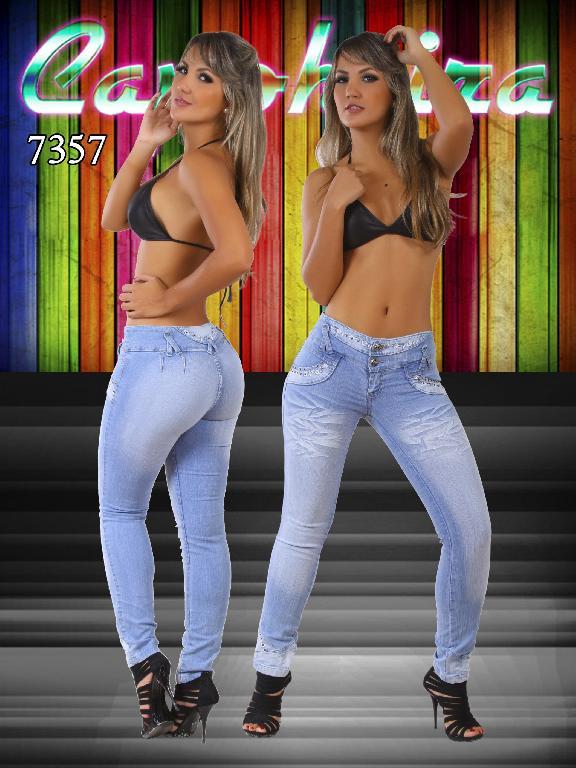 Jeans Dama Levantacola Colombianos - Ref. 102 -7357