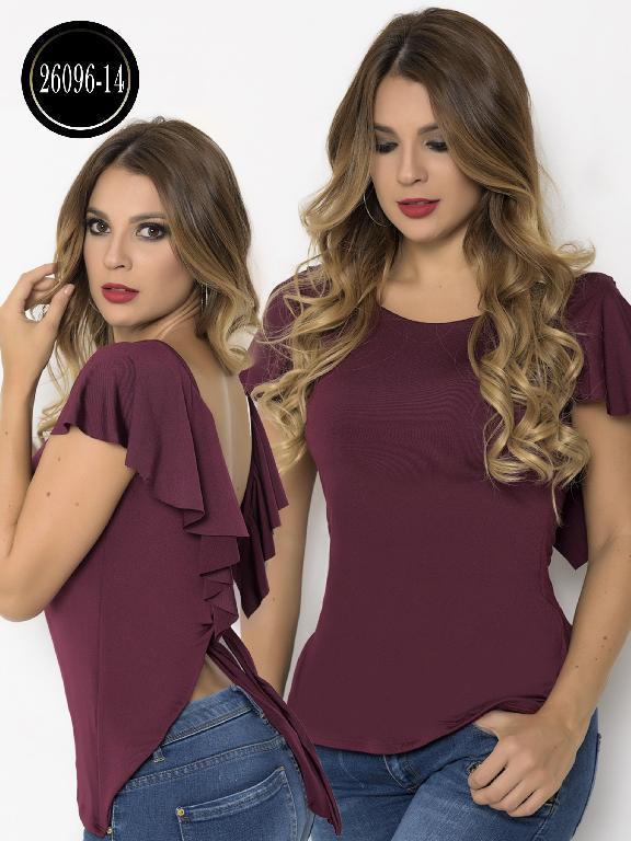 Blusa Moda Colombiana Cereza  - Ref. 111 -26096-14 Vinotinto