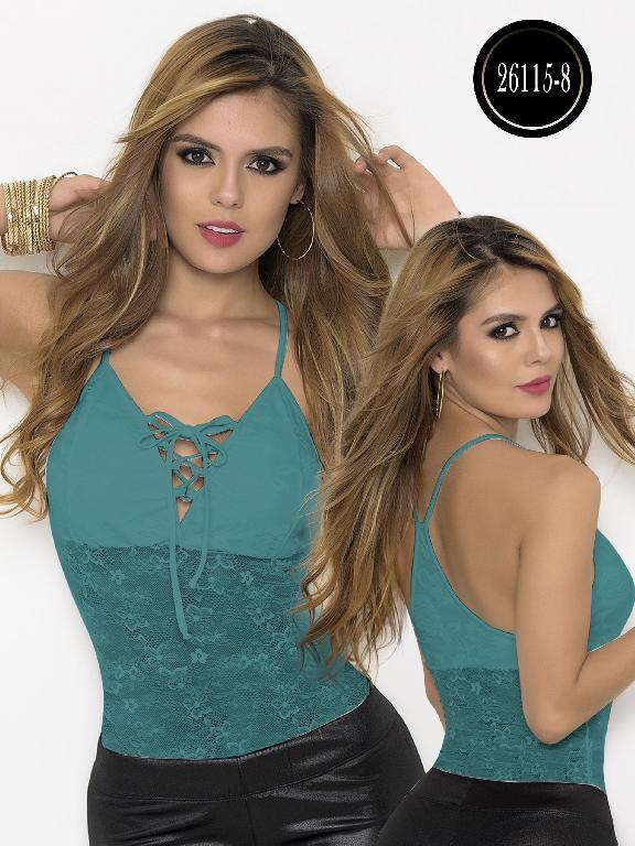 Blusa Moda Colombiana Cereza  - Ref. 111 -26115-8 Verde