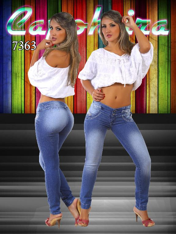 Jeans Dama Levantacola Colombianos - Ref. 102 -7363