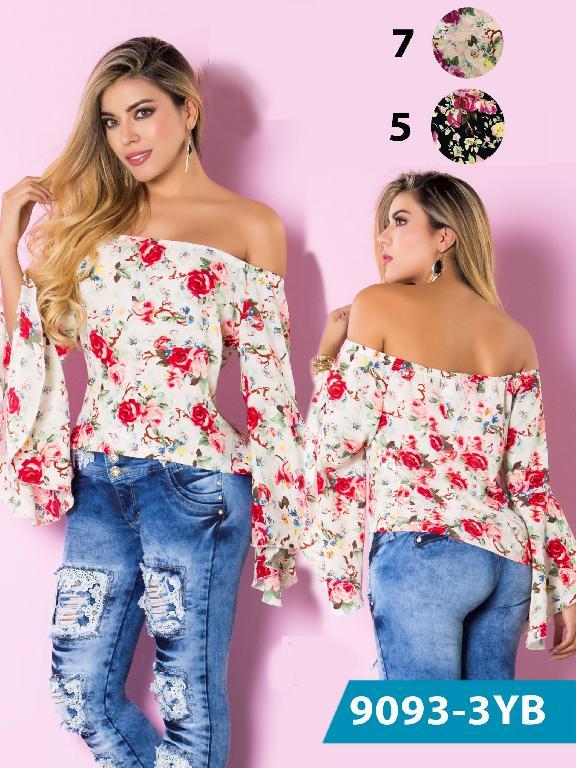 Blusa Moda Colombiana Yes Brazil  - Ref. 113 -9093-5 Azul