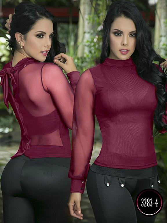 Blusa Moda Colombiana Thaxx - Ref. 119 -3283-4 Vinotinto
