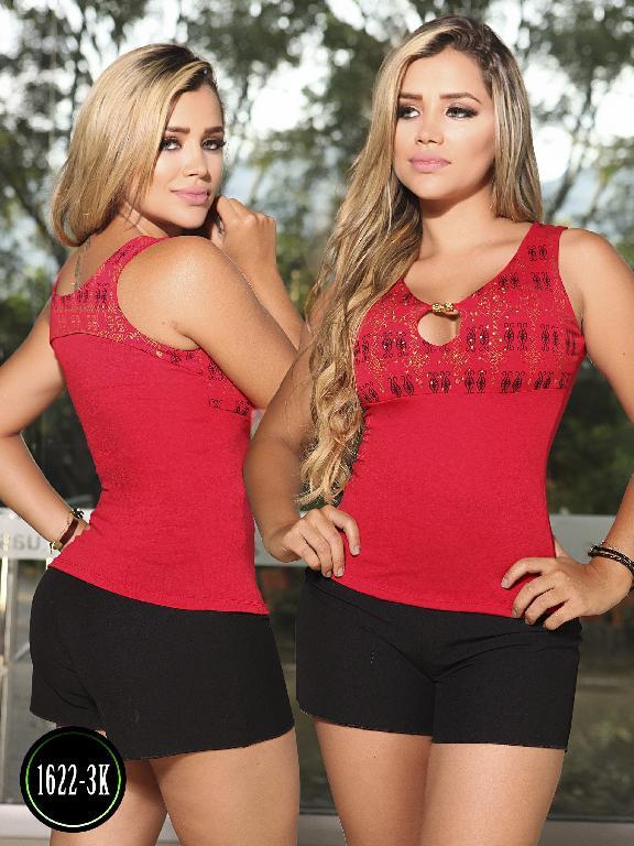 Blusa Moda Colombiana Kpriccio  - Ref. 233 -1622 3 Rojo