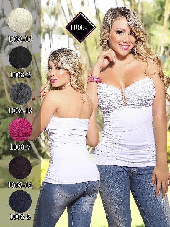 Blusa Moda Fuxia Gris - Ref. 240 -1008 Gris