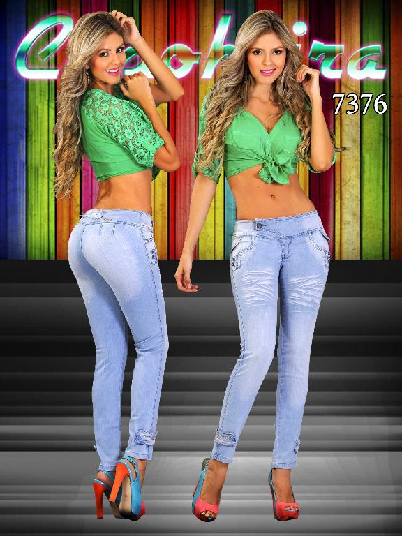 Jeans Dama Levantacola Colombiano - Ref. 102 -7376