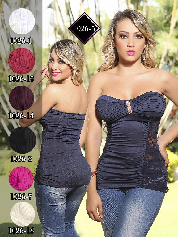 Blusa Moda Fuxia Vinotinto - Ref. 240 -1026 Vinotinto