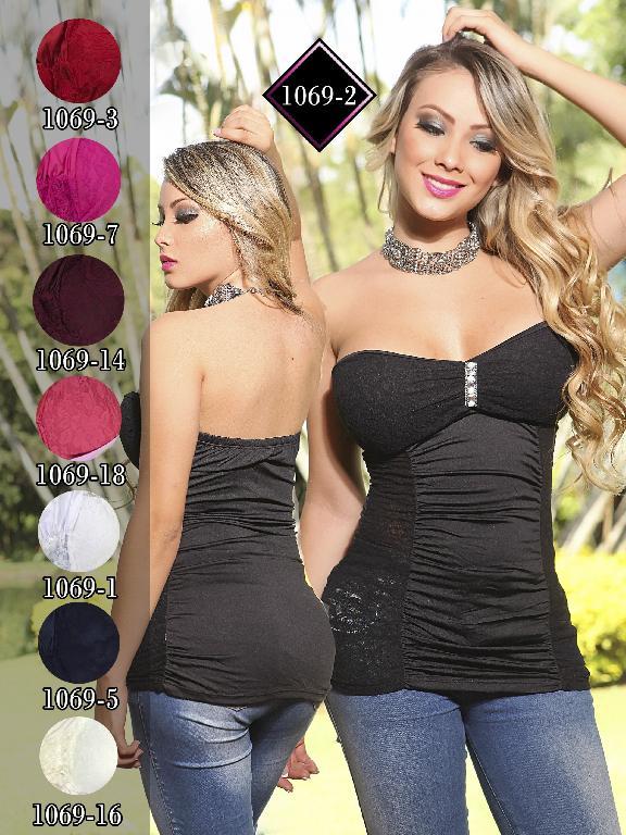 Blusa Moda Fuxia Beige - Ref. 240 -1069 Beige