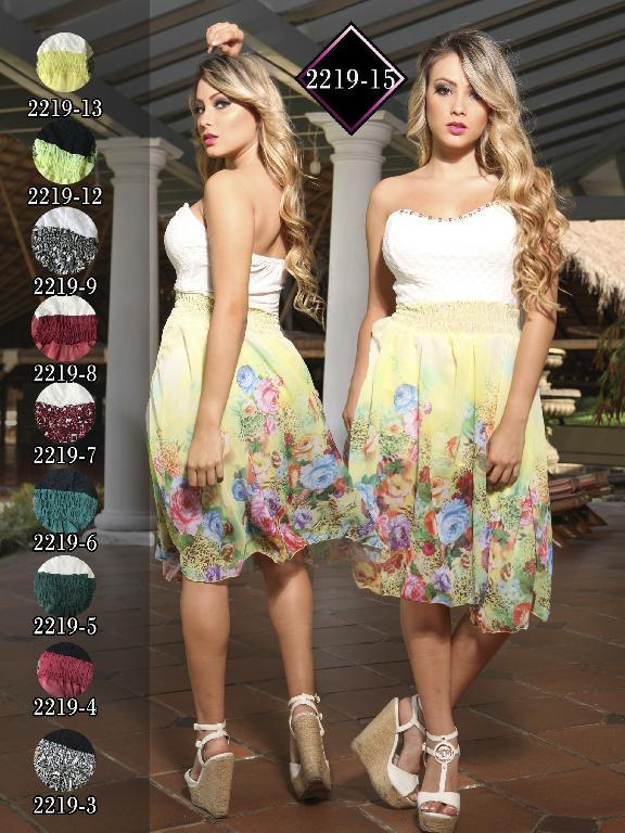 Vestido Moda Fuxia Verde Beige - Ref. 240 -22195 Verde Beige