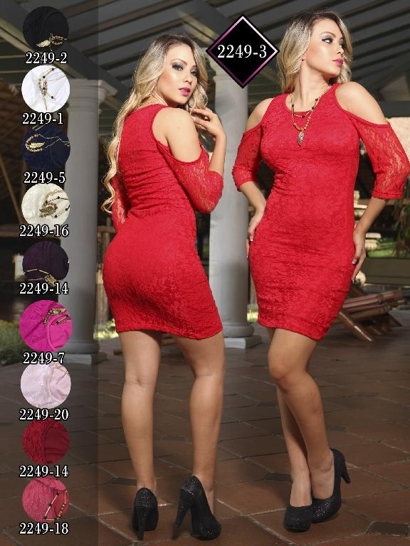 Vestido Moda Fuxia Beige - Ref. 240 -2249 Beige