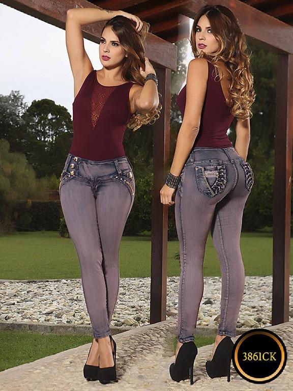 Jeans Dama Levantacola Colombiano Cokette - Ref. 119 -3861 CK