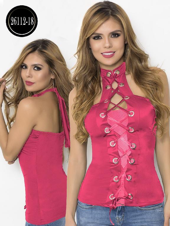 Blusa Moda Colombiana Cereza  - Ref. 111 -26112-18 Coral
