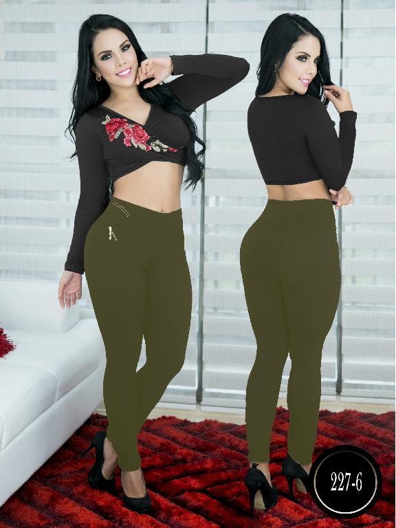 Pantalon Casual Comfort Thaxx - Ref. 119 -227-6 Verde