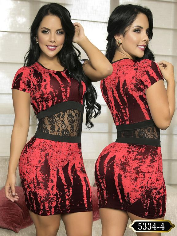 Vestido Moda Colombiano Thaxx - Ref. 119 -5334-4 Naranja