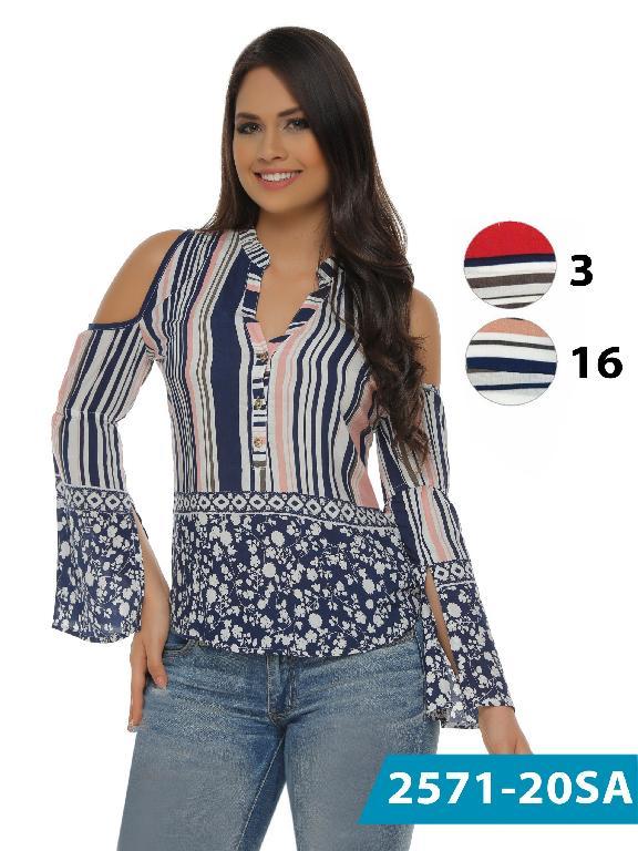 Blusa Moda Colombiana Solo Amor  - Ref. 246 -2571-16 Beige