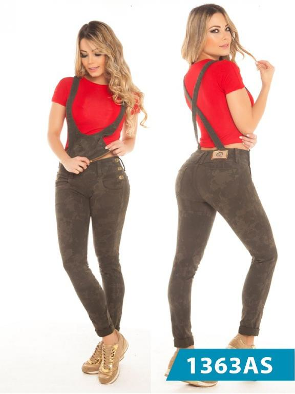 Jeans Levantacola Colombiano Con Peto Asi Sea - Ref. 124 -1363 AS