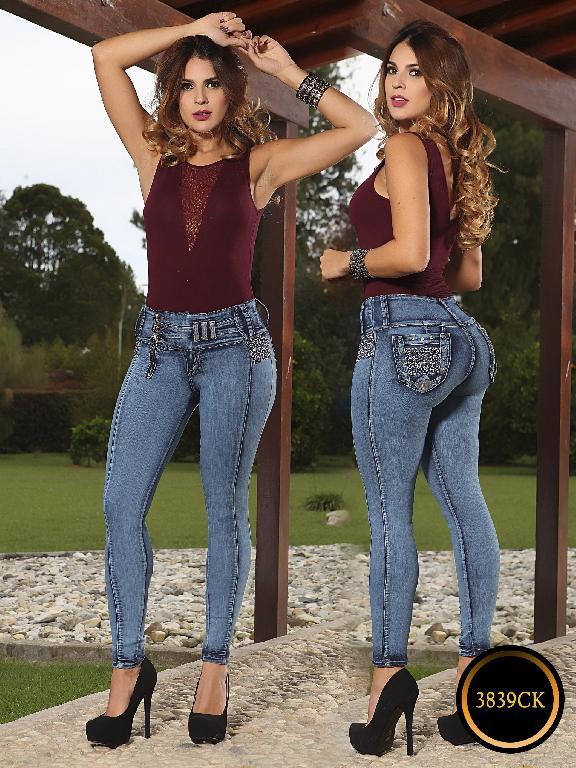 Jeans Dama Levantacola Colombiano Cokette - Ref. 119 -3839 CK