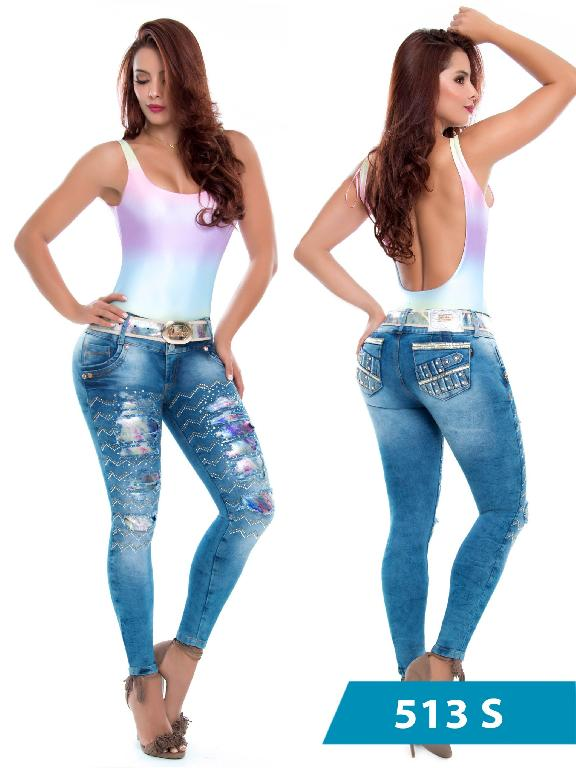 Jeans Levantacola Colombiano Duchess - Ref. 237 -513 S