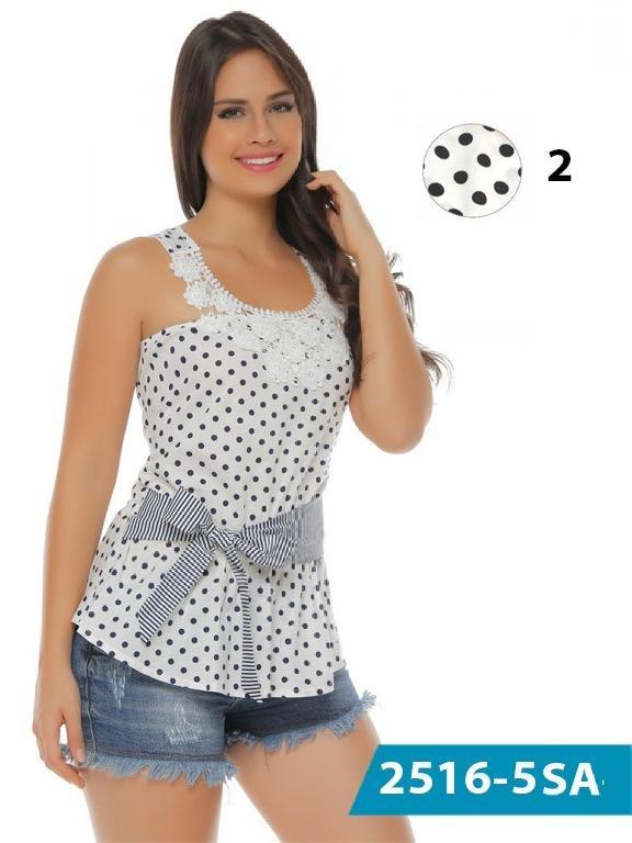 Blusa Moda Colombiana Solo Amor  - Ref. 246 -2516-2 Negro