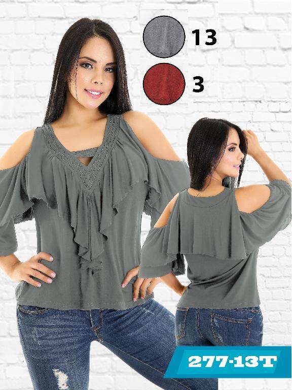 Blusa Moda Colombiana Tabbachi  - Ref. 236 -277-13 Gris
