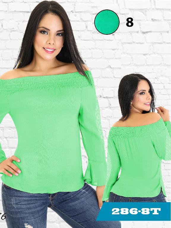 Blusa Moda Colombiana Tabbachi - Ref. 236 -286-8 Verde
