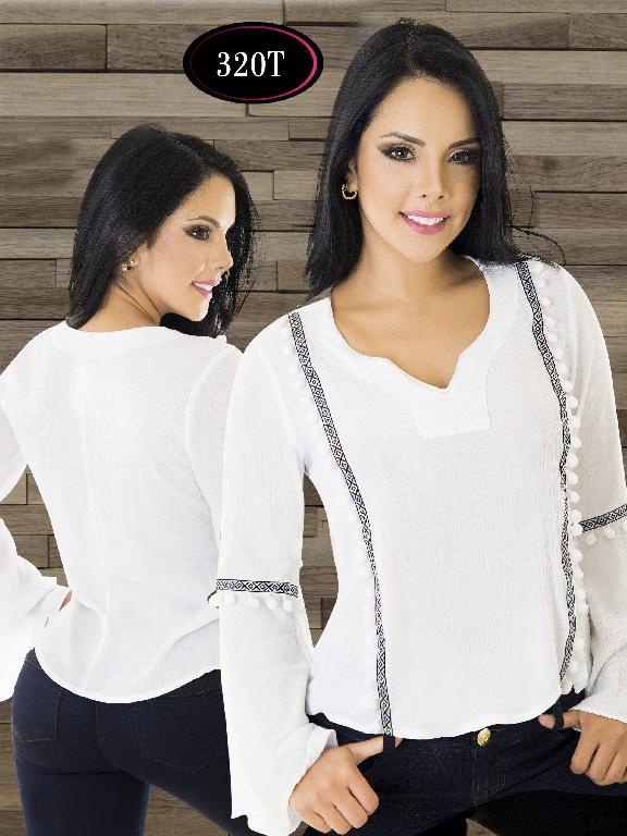Blusa Moda Colombiana Tabbachi - Ref. 236 -320-T Blanco