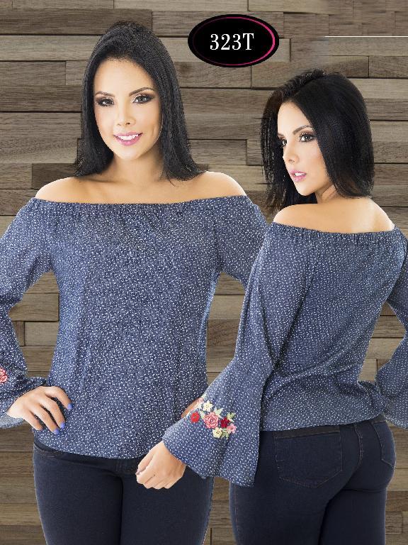 Blusa Moda Colombiana Tabbachi - Ref. 236 -323 T Azul