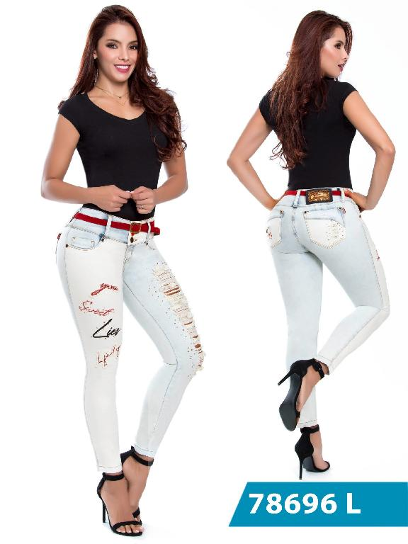 Jeans Levantacola Colombianos Lujuria - Ref. 243 -78696 L