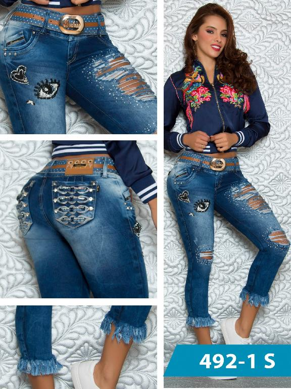 Jeans Levantacola Colombiano Duchess - Ref. 237 -492 S