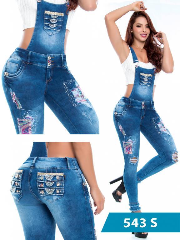 Jeans Levantacola Colombiano Con Peto Duchess - Ref. 237 -543 S