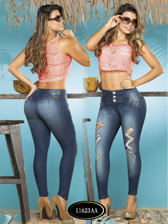 Colombian Sexy Jeans Butt Lifting Blue Studio AA  - Ref. 235 -11623 AA