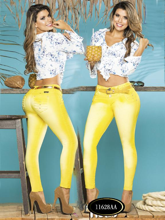 Colombian Sexy Jeans Butt Lifting Yellow-Lemon Colors Studio AA  - Ref. 235 -11628 AA