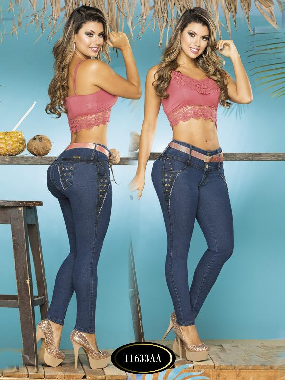 Colombian Sexy Jeans Butt Lifting Blue Studio AA  - Ref. 235 -11633 AA