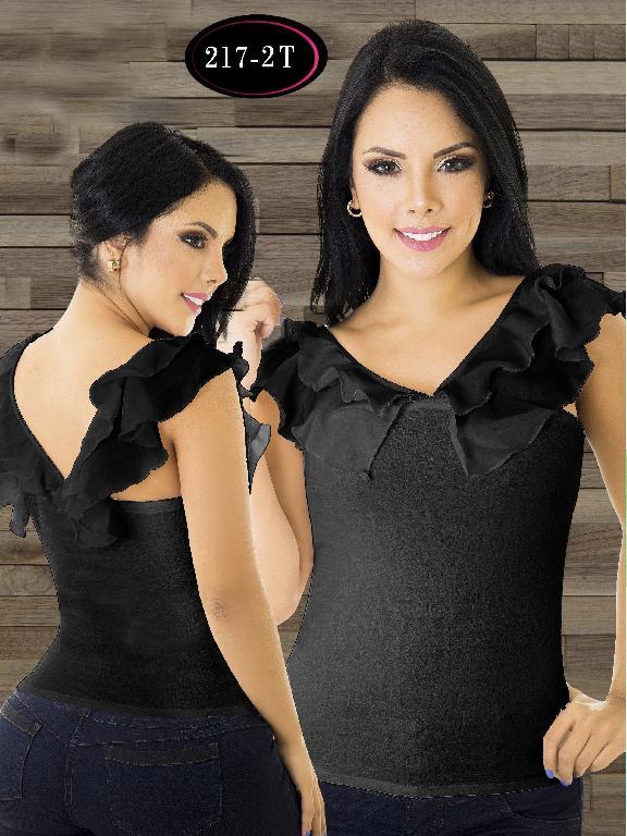 Blusa Moda Colombiana Tabbachi - Ref. 236 -217-2 t Negro