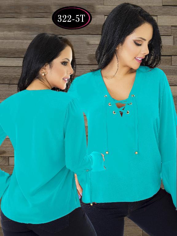 Blusa Moda Colombiana Tabbachi - Ref. 236 -322-5 T Azul