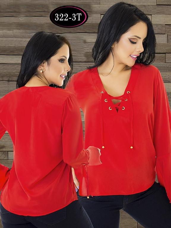 Blusa Moda Colombiana Tabbachi - Ref. 236 -322-3 T Rojo