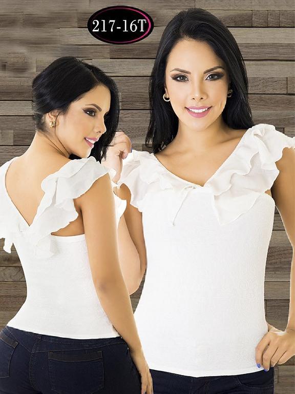 Blusa Moda Colombiana Tabbachi - Ref. 236 -217-16 T Beige
