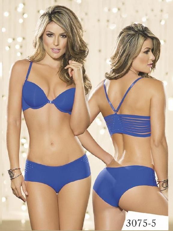 Conjunto Ropa Intima Thaxx Azul - Ref. 119 -3075-5 Azul