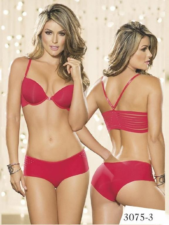 Conjunto Ropa Intima Thaxx Rojo - Ref. 119 -3075-3 Rojo