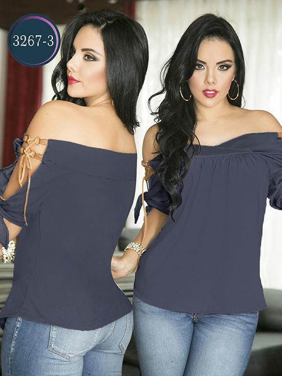 Blusa Moda Colombiana Thaxx  - Ref. 119 -3267-3 Azul Oscuro