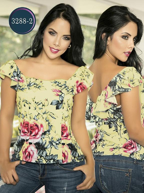 Blusa Moda Colombiana Thaxx  - Ref. 119 -3288-2 Amarillo