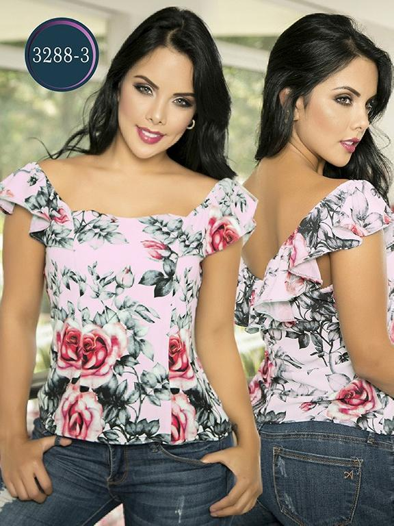 Blusa Moda Colombiana Thaxx  - Ref. 119 -3288-3 Rosado