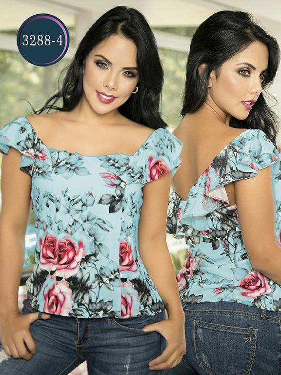 Blusa Moda Colombiana Thaxx  - Ref. 119 -3288-4 Verde