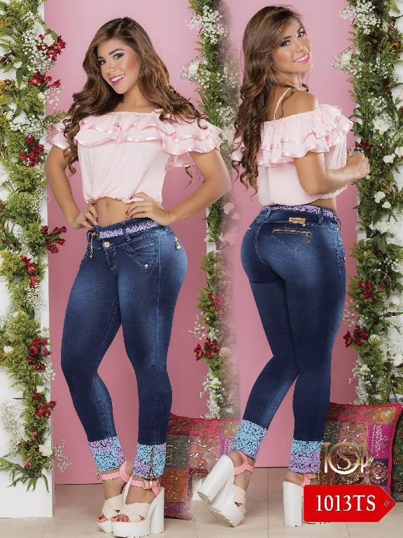 Jeans Levantacola Colombiano Top Symbol  - Ref. 251 -1013 TS