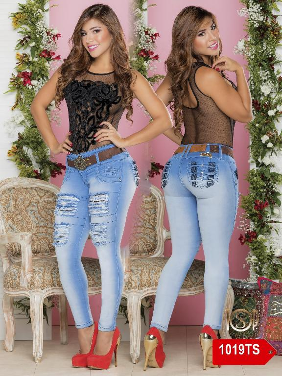 Jeans Levantacola Colombiano Top Symbol