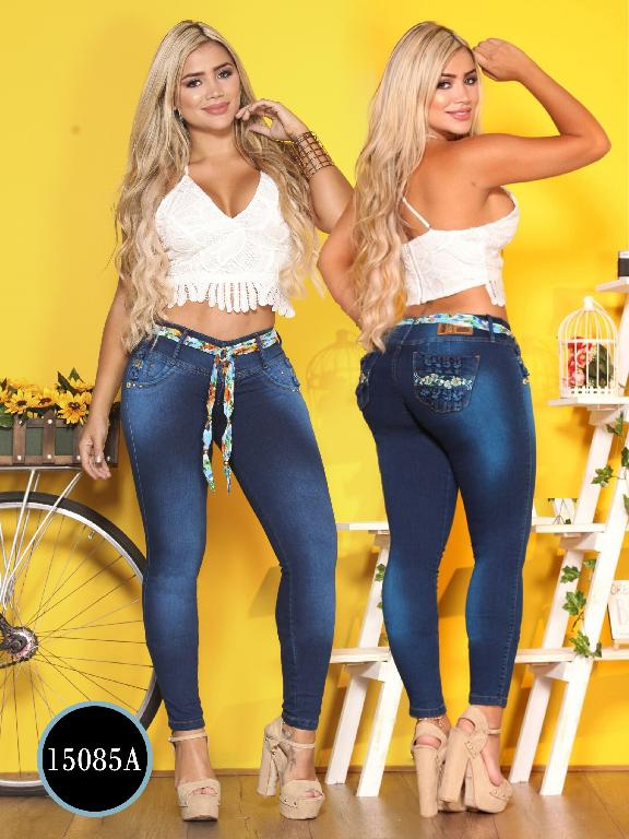 Jeans Levantacola Colombiano Ambar
