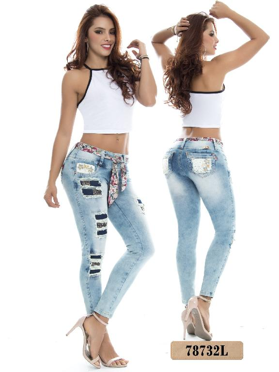 Jeans Levantacola Colombiano Lujuria  - Ref. 243 -78732 L