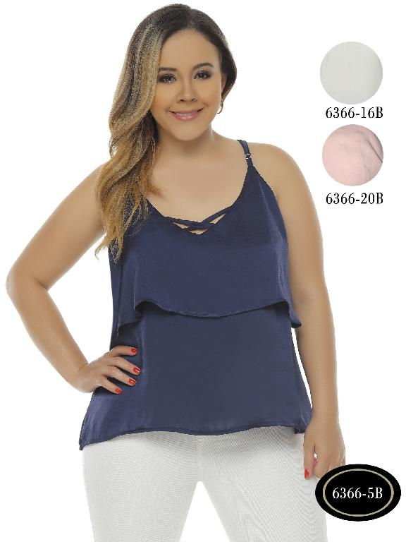 Colombian Top Women Blue Color Bambu - Ref. 250 -6366-5B Azul