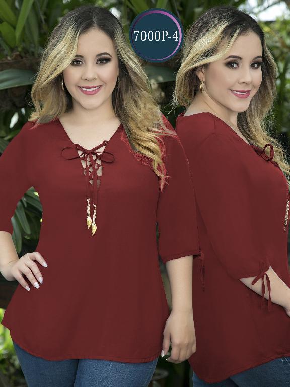 Blusa Moda Colombiana Thaxx Size Plus - Ref. 119 -7000-4 Vinotinto