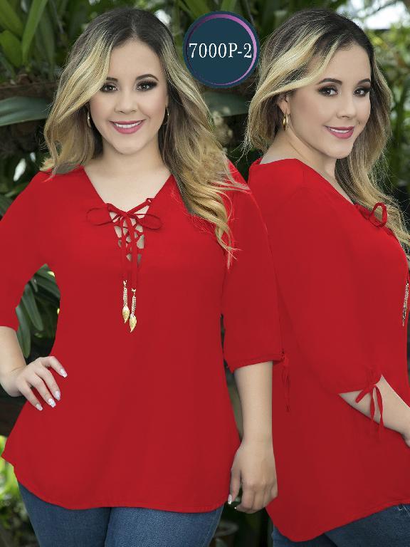Blusa Moda Colombiana Thaxx Size Plus - Ref. 119 -7000-2 Rojo